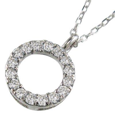 ペンダント ネックレス レディース 4月誕生石 天然ダイヤモンド 白金(プラチナ)900 約0.16ct 約8.5mmサイズ