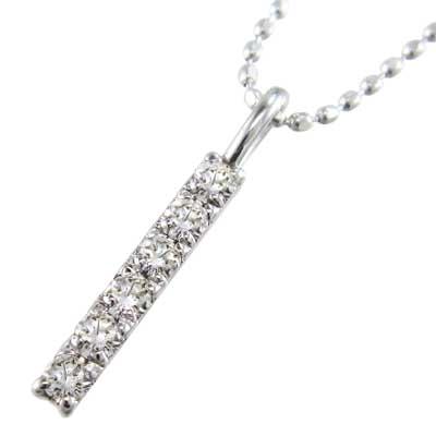 ジュエリー ネックレス プレート レディース 4月誕生石 天然ダイヤモンド Pt900 約0.12ct 小サイズ