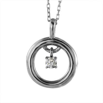 甲丸 ペンダント レディース 4月誕生石 天然ダイヤモンド 白金(プラチナ)900 約0.08ct