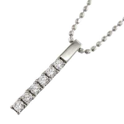 ペンダントネックレス プレート レディース 4月誕生石 天然ダイヤモンド 白金(プラチナ)900 約0.12ct 小サイズ
