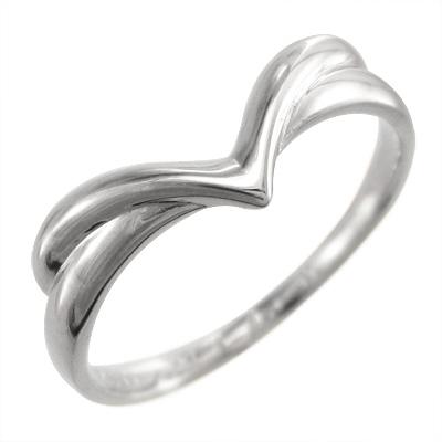 指輪/V字/レディース/白金(プラチナ)900
