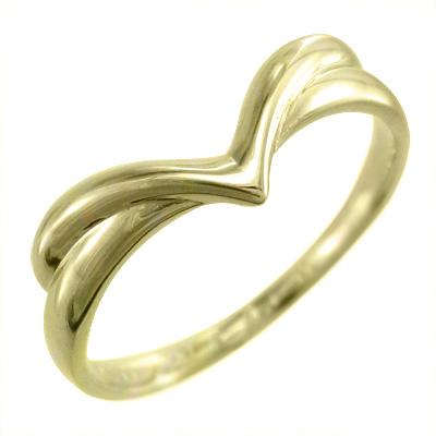 指輪 V字 大好評です k10ゴールド ホワイト イエロー ピンク お洒落
