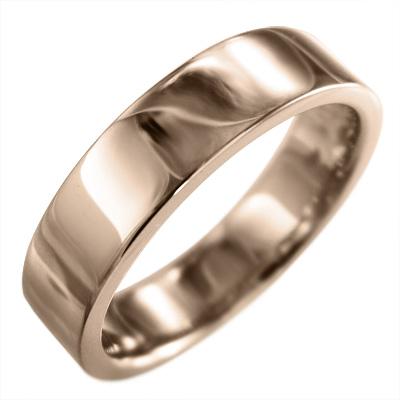 平らな指輪/メンズ/k18ゴールド/約5mm幅 (ホワイト イエロー ピンク)
