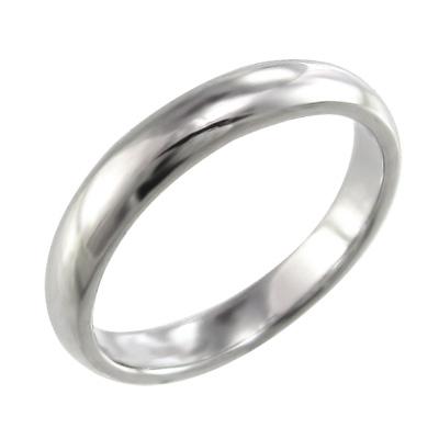 丸い 指輪 レディース メンズ 白金(プラチナ)900 約3mm幅