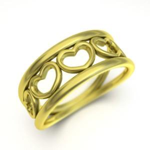 指輪 オープン ハート メンズ k10ゴールド (ホワイト イエロー ピンク)
