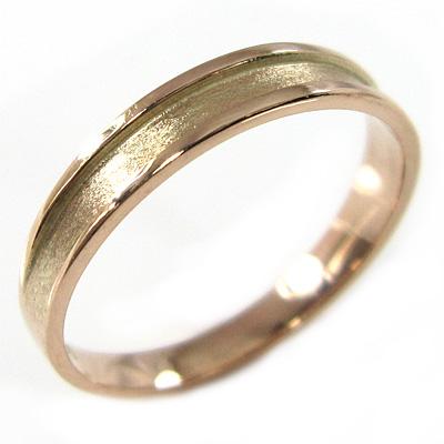 平らな指輪 ピンキー 小指 リング レディース k18ゴールド 約3mm幅 (ホワイト イエロー ピンク)