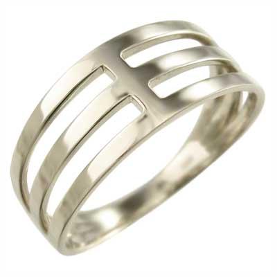 平打ちの指輪 メンズ k10ゴールド 3連 (ホワイト イエロー ピンク)