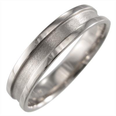 平らな指輪 レディース 白金(プラチナ)900 ハーフ溝入 約5mm幅
