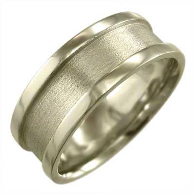 平らな指輪 メンズ レディース 10kゴールド 約7mm幅 大きめサイズ 厚さ約1.4mm ハーフ溝 (ホワイト イエロー ピンク)