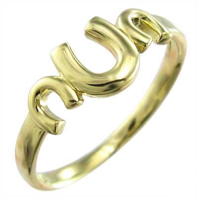 指輪 馬蹄 ジュエリー レディース k10ゴールド 三連 (ホワイト イエロー ピンク)
