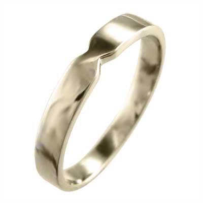 指輪 メンズ k10ゴールド 最大約3mm幅 (ホワイト イエロー ピンク)