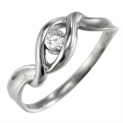 リング メンズ 4月誕生石 天然ダイヤモンド Pt900 約0.10ct