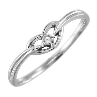 リング ハート レディース 4月誕生石 天然ダイヤモンド 10kゴールド 約0.04ct (ホワイト イエロー ピンク)