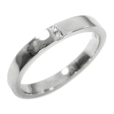 平打ち リング レディース 4月誕生石 天然ダイヤモンド 白金(プラチナ)900 約0.05ct