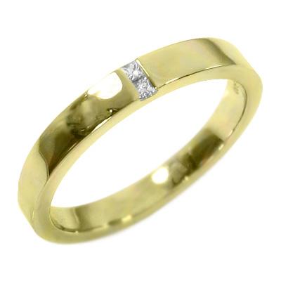 平らな指輪 レディース 4月誕生石 天然ダイヤモンド k10ゴールド 約0.05ct (ホワイト イエロー ピンク)