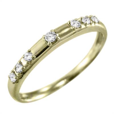 リング ブライダルリング メンズ 4月誕生石 天然ダイヤモンド k10ゴールド 約0.07ct (ホワイト イエロー ピンク)