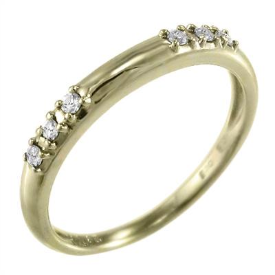 指輪 婚約 ブライダル にも レディース 4月誕生石 天然ダイヤモンド k18ゴールド 約0.06ct (ホワイト イエロー ピンク)