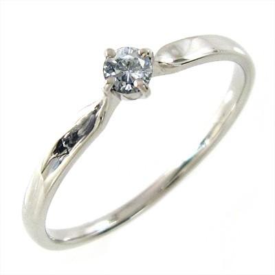 リング 結婚指輪にも レディース 4月誕生石 天然ダイヤモンド プラチナ900 約0.08ct
