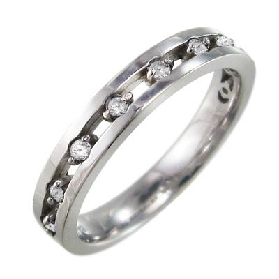 リング レディース 4月誕生石 天然ダイヤモンド 白金(プラチナ)900 約0.16ct 9ピース