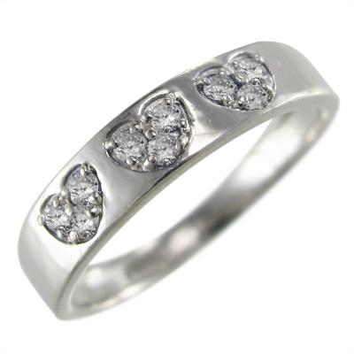 指輪 ブライダルリングにも スイート ハート レディース 4月誕生石 天然ダイヤモンド k10ゴールド 約0.08ct (ホワイト イエロー ピンク)