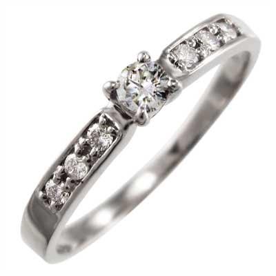 指輪 オーダーメイド マリッジリング にも レディース 4月誕生石 天然ダイヤモンド 白金(プラチナ)900 約0.18ct