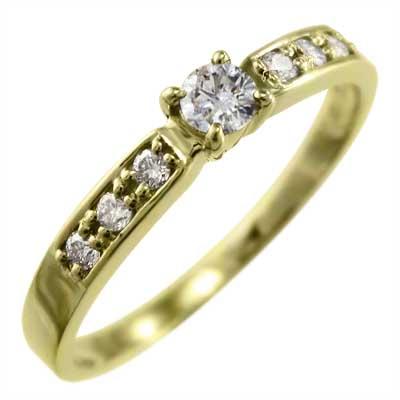 指輪 オーダーメイド マリッジリング にも レディース 4月誕生石 天然ダイヤモンド ゴールドk18 約0.18ct (ホワイト イエロー ピンク)