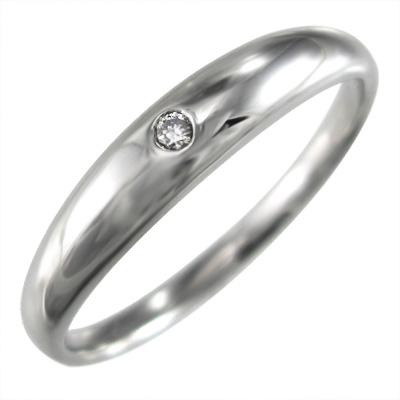 リング マリッジリングにも レディース 4月誕生石 天然ダイヤモンド Pt900 約0.01ct