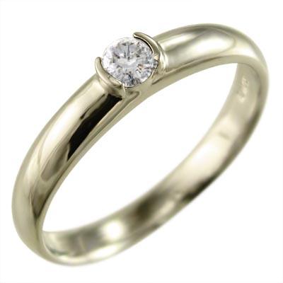 リング 結婚指輪 にも レディース 4月誕生石 天然ダイヤモンド k10ゴールド 約0.10ct (ホワイト イエロー ピンク)