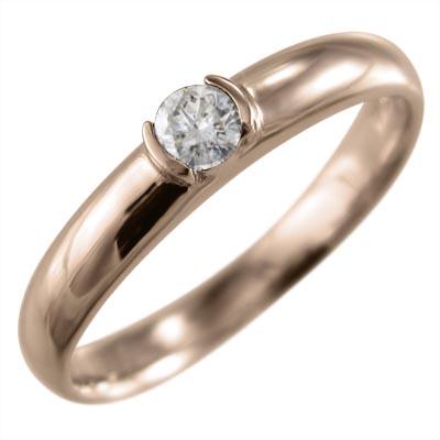 リング/結婚指輪/にも/レディース/4月誕生石/天然ダイヤモンド/k18ゴールド/約0.10ct (ホワイト イエロー ピンク)