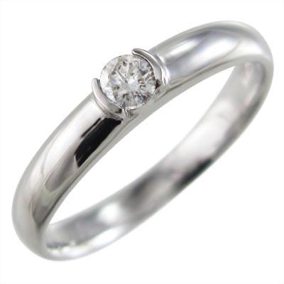 指輪/オーダーメイド/マリッジリング/にも/レディース/4月誕生石/天然ダイヤモンド/Pt900/約0.10ct