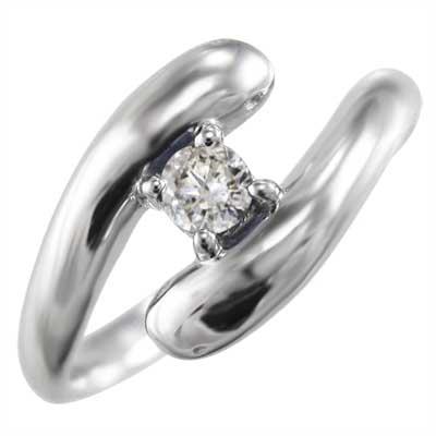 リング 蛇 メンズ 4月誕生石 天然ダイヤモンド 18金ゴールド 約0.10ct (ホワイト イエロー ピンク)