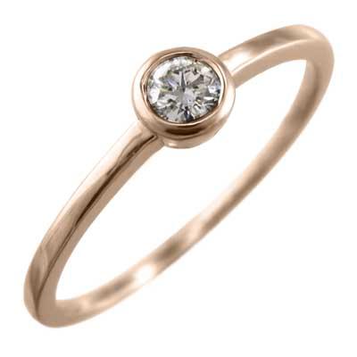 指輪/オーダーメイド/マリッジリング/にも/レディース/4月誕生石/天然ダイヤモンド/ゴールドk18/約0.10ct (ホワイト イエロー ピンク)
