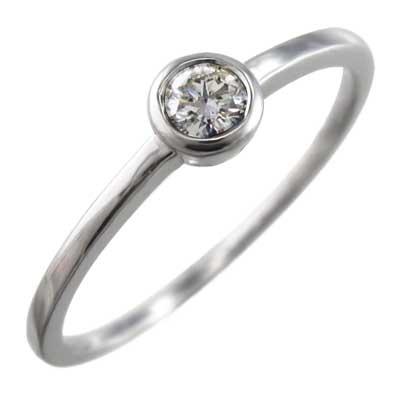指輪 ブライダルリング にも レディース 4月誕生石 天然ダイヤモンド Pt900 約0.10ct