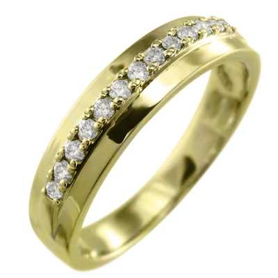 リング レディース 4月誕生石 天然ダイヤモンド 10kゴールド (ホワイト イエロー ピンク)
