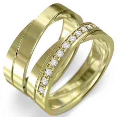ペアの指輪 平らな指輪 レディース 4月誕生石 天然ダイヤモンド ゴールドk18 (ホワイト イエロー ピンク)