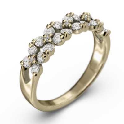 フラワー リング 4月誕生石 メンズ 天然ダイヤモンド k18ゴールド ホワイト 約0.65ct ピンク 返品交換不可 イエロー 贈答品