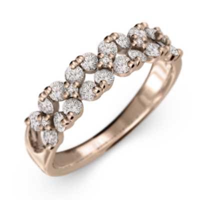指輪 ファッションフラワー メンズ 4月誕生石 天然ダイヤモンド ゴールドk18 約0.65ct (ホワイト イエロー ピンク)