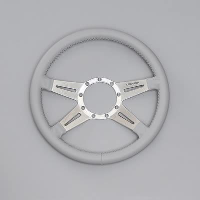 USA LECARRA レカラ ステアリングホイール MARK9 14inc ライトグレー