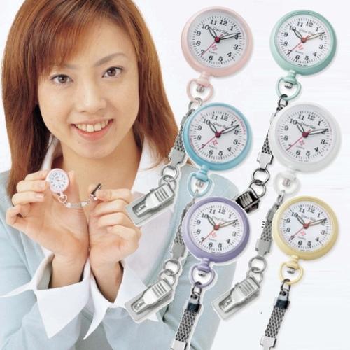 NEWナースウォッチ 送料無料 シンプルで見やすい文字盤が特徴のナースウォッチです! NEWナースウォッチ ナース時計 クリップ時計 看護師 懐中時計 レディース メール便 送料無料