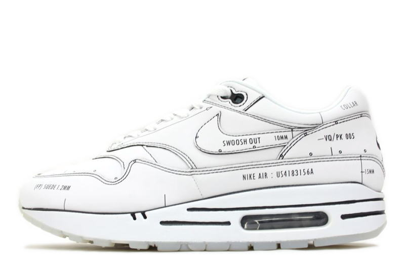 oben Nike Air Max 1 Sketch To Shelf Tinker White Schematic