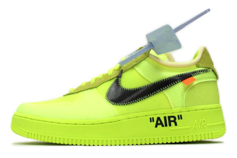 It is AIR FORCE 1 LOW OFF WHITE VIRGIL ABLOH VOLT AO4606 700 Nike air force 1 low off white Virgil horsefly low bolt NIKE THE 10