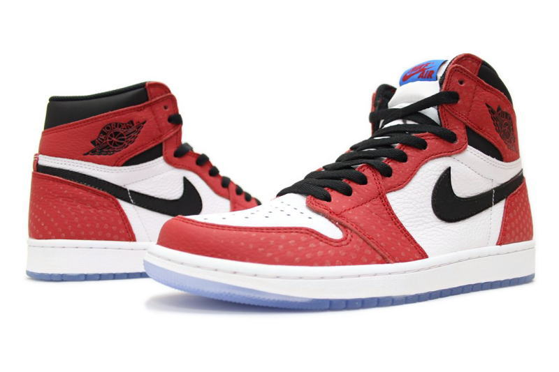 NIKE AIR JORDAN 1 RETRO HIGH OG SPIDER MAN ORIGIN STORY 555,088-602 Nike  Air Jordan 1 nostalgic high Spider-Man origin story