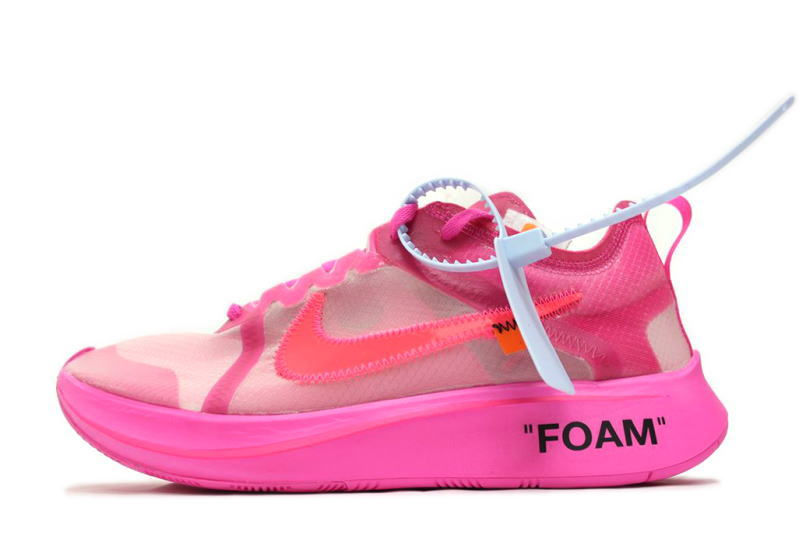 It is AIR ZOOM FLY OFF,WHITE VIRGIL ABLOH PINK AJ4588,600 Nike air zoom  fly,off white Virgil horsefly low pink NIKE THE 10