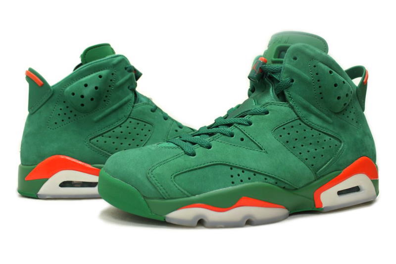 NIKE AIR JORDAN 6 RETRO NRG G8RD GATORADE GREEN AJ5986 335 Nike Air Jordan 6 nostalgic Gatorade green