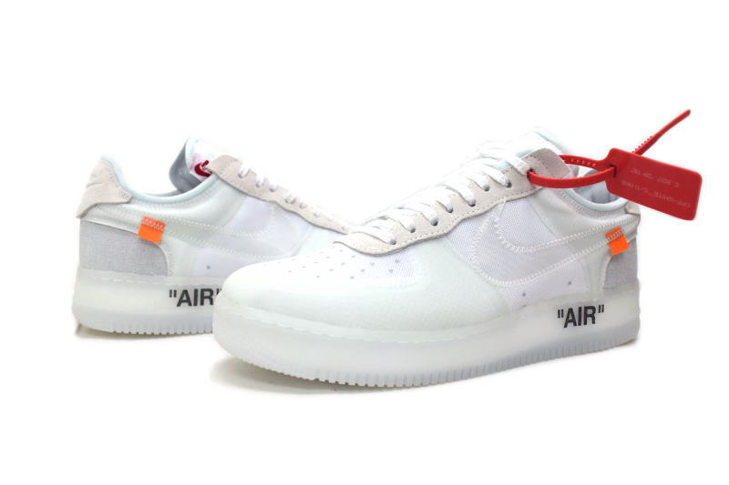 It is AIR FORCE 1 LOW OFF WHITE VIRGIL ABLOH AO4606 100 Nike air force 1 low off white Virgil horsefly low NIKE THE 10