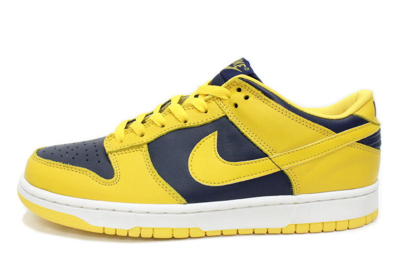 the latest 120eb 95fcc 630,358-741 NIKE DUNK LOW yellow X dark blue initial reproduction nike back  dunk low