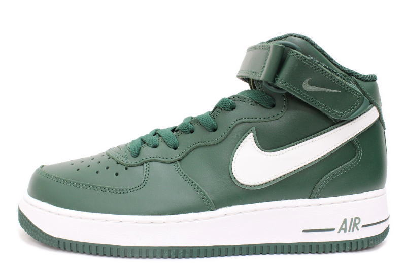 the latest acbd5 91472 1 NIKE AIR FORCE MID green U.K., 306,352-311 Japanese limited nike Air Force  ...