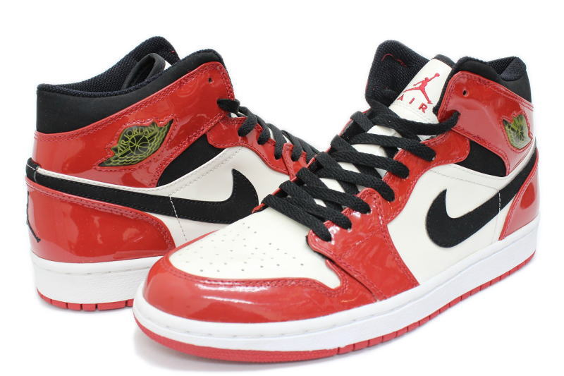 the best attitude 2b274 915bf NIKE AIR JORDAN 1 RETRO red x White x black PATENT 136085-106 Nike Air  Jordan retro patent enamel