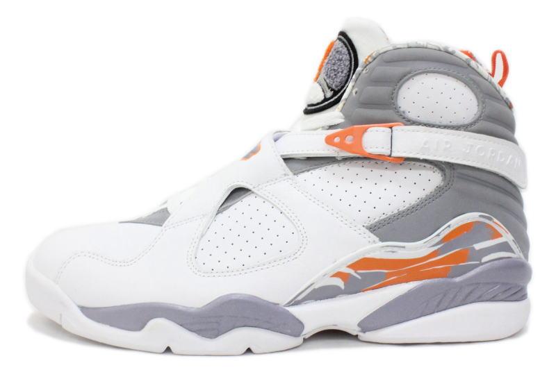 on sale 7fa7f 53c80 8 305,381-102 NIKE AIR JORDAN RETRO white X gray X orange nike Air Jordan 8  is nostalgic