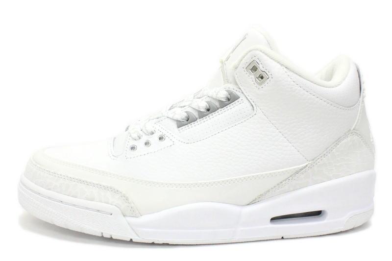 buy online ad3b4 71a8e 3 136,064-103 3 NIKE AIR JORDAN RETRO PURE $ white X silver nike Air Jordan  retros pure dollar